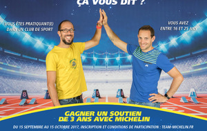 LANCEMENT DU CHALLENGE MULTISPORTS ET HANDISPORT DU TEAM MICHELIN